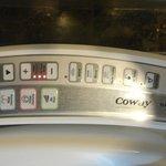 Toilet seat control panel!