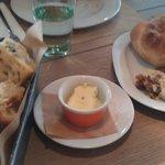 rosemary focaccia and pure garlic bread