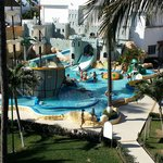 4th floor view of the waterpark / resort