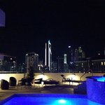 TRYP rooftop pool at night