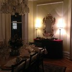 One end of the formal dining room.