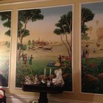 The mural in the front parlor