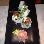 Popular dish - Spider maki roll, with soft shell crab!