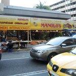 Manalos restaurant across from hotel.