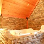Jacuzzi tub located in our beautiful loft