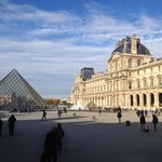 The beautiful Louvre museum...had no idea we were going to walk through this area so it was a bo