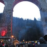 Christmas market in The ravenna gorge