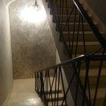 Escada para acesso a recepção