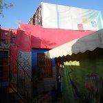 tenda-camera in terrazza