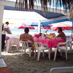 lively beach lunch