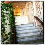 This are our lobby stairs towards the Beach
