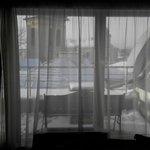 Вид из окна утром,как проснешься