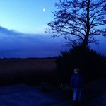 A fairy tale under the moon, just outside the guestroom