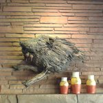 Tree trunk Javelina carving