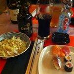 Bière brune et limonade japonaise