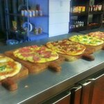 Fresh made gourmet pizza