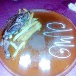 1/2 plato de churrasco a la brasa.Meson El Toston. Calle Calañas 3 , Huelva