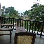 balcony looking to beach