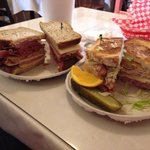 The sheepherder sandwich and the big mouth make your own sandwich