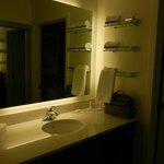 backlit vanity was great