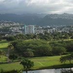 ala wai canal and mtn. view from room