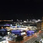 Night view of vessel terminals