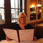 Gail perusing the menu