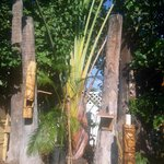 Tikis in the back yard