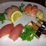 Tuna, Salmon, Yellowtail and Sea Eel sushi