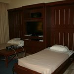 Murphy beds lift down with an easy pull