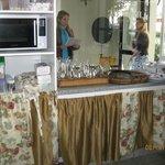 vision de cocina hacia entrada