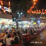 Restaurants along Food Street