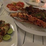 The lobster, squid and sambal matah