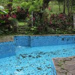 The pool filling up with clean water