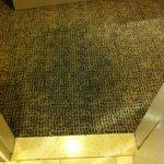 Piso quarto molhado banheiro com vazamento