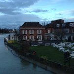 View of the hotel from the Marlow Bridge