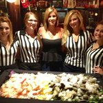 Monday Night FootBall with the waitresses.
