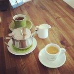 beautiful coffee and tea!