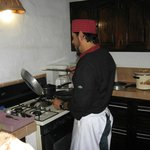 Jose cooking in our kitchen! :)