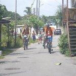 Riding through the Malay villages