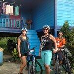 Colorful Malay kampung houses