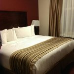 King size bed. Suite in new building