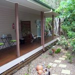 On the verandah and private entrance