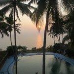 Заход солнца, вид с балкона