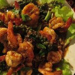 Delicious Prawns and Kampot fresh green peppers