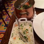Veal pot with rice, well match