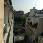 View north from our room toward the River Seine