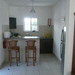 Die Küche mit Küchenbar