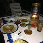Ужин на открытом воздухе