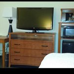 television and bed